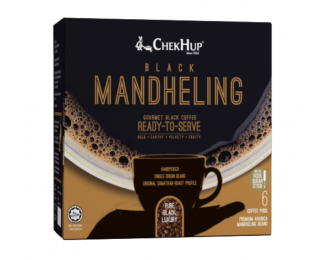 Chek Hup Black Mandheling Coffee 10gx6 怡保泽合黑曼特宁精品咖啡粉