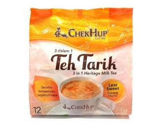 Chek Hup Teh Tarik Heritage Milk Tea Less Sweet 3in1 35gx12 怡保泽合3合1香滑少糖拉奶茶