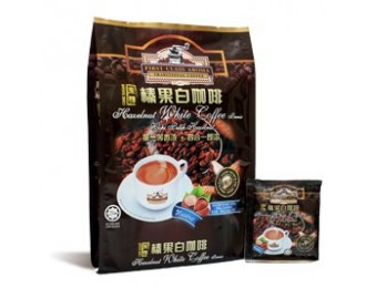 Yee Kong First Class Aroma Hazelnut White Coffee 4in1 40gx15 義江怡保4合1榛果白咖啡