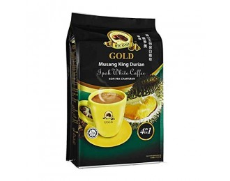 Hicomi White Coffee Musang King Durian 4in1 38gx15 壩羅喜多美猫山王怡保白咖啡