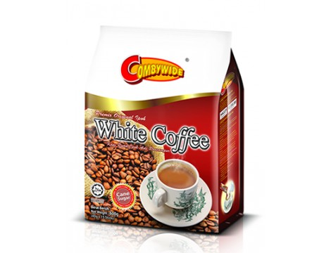 Combywide Premix Ipoh White Coffee Cane Sugar 3in1 40gx15 肯比维蔗糖怡保白咖啡