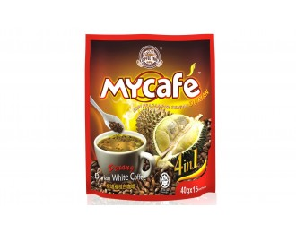 Mycafe Penang Durian White Coffee 4in1 40gx15 槟城榴莲白咖啡