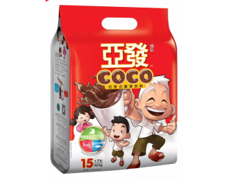 Ah Huat Coco Chocolate Malt Drink 31gx15 亚发巧克力麦芽饮料